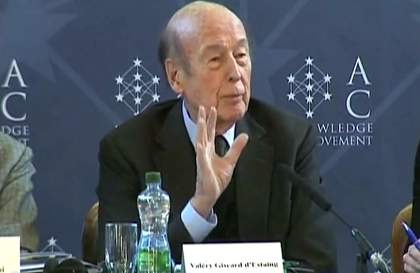 Mr Valéry Giscard d'Estaing, Honorary President of Atomium Culture and former President of France
